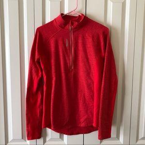 1/4 Zip Red Reebok Pullover